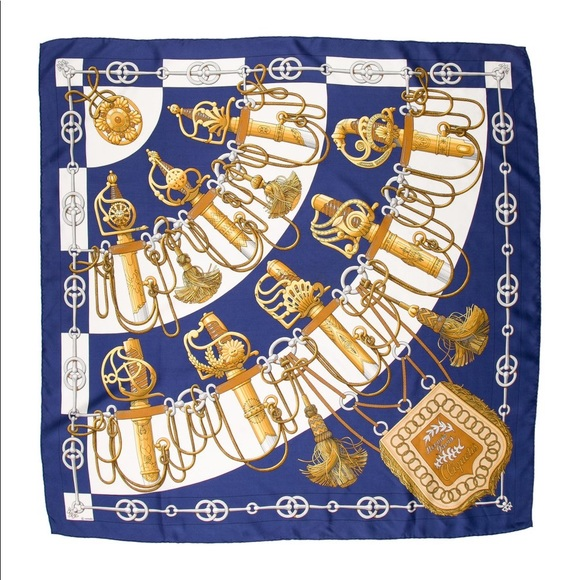 8bfc32f2647e Hermes Accessories   Authentic Herms Silk Scarf J Abadie Cliquetis ...